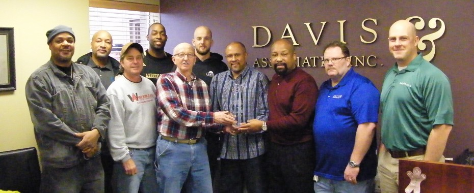 Davis - Safety Award 2013 Pic2